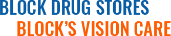 Block Drug Stores, Block's Vision Care, Footer Logo