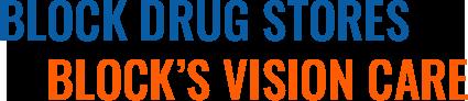 Block Drug Stores, Block's Vision Care, Logo