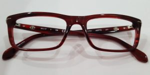 Front View of Reddish Brown Frames