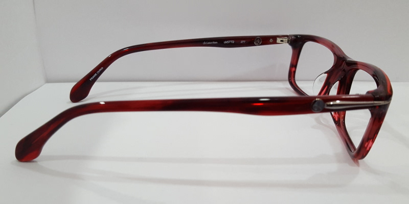 Side View of Reddish Brown Frames